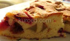 Пирог со сливами, яблоками и грушами, срез