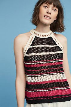 Ravella Striped Knit Tank Top