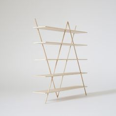 zurich shelf ____ 2016 The Zurich shelf is made of solid oak wood. It is composed of five boards and four rods. The angles of the rods brace the structure in all directions and hold the boards at the...