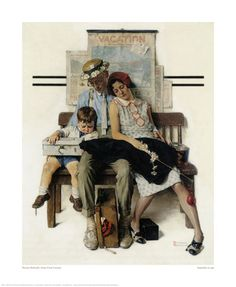 Norman Rockwell Home from Vacation