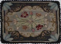 Early 20th C. Handmade Hooked Floor Rug