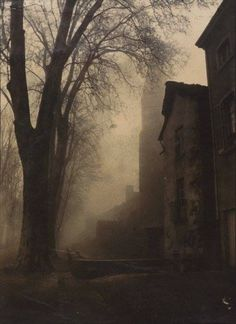 There is something eerie and menacing about this untitled painting by Félix Thiollier ca Dark Photography, Artistic Photography, Dark Places, Dark Forest, Belle Photo, Dark Art, Mists, Scenery, Beautiful