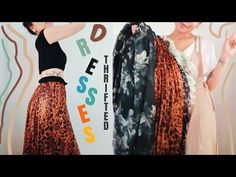 I Thrifted cute trendy Dresses and accessories - YouTube Dress Up Diary, Trendy Dresses, I Dress, Thrifting, Sequin Skirt, Kimono Top, Sequins, Cute, Skirts