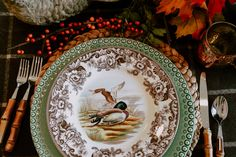Setting a Beautiful Fall Table - Seasons of the Lake Fall Table, Thanksgiving Table, Spiced Apple Cider, How To Make Fire, Copper Mugs, Kitchen Items, Rustic Wood, Pottery Barn, Christmas Time