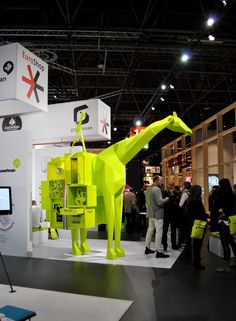 Great use of art as a way to draw in attendees | Euroshop 2014. Plan on attending the next #euroshop on 5-9 March 2017 in Dusseldorf.