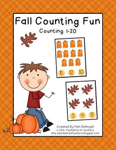 Fall Counting Fun - Counting 1-20 - Great Math Station! $1.50