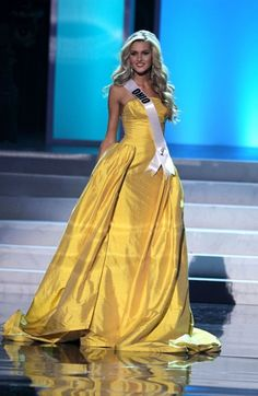 Nick Verreos: Beauty Pageant Minute: Miss USA 2012 Finals--My Evening Gown Recap! Yellow Evening Dresses, Evening Gowns, Stunning Dresses, Nice Dresses, Gorgeous Dress, Hollywood Gowns, Nude Gown, Miss Usa, Chiffon Gown