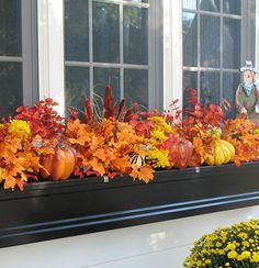 1000 ideas about winter window boxes on pinterest - Window decorations for fall ...