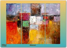 Geometry Abstract contemporary oil painting by paintingpoint