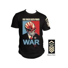 Five Finger Death Punch War Tee - Featuring a war print on the front and FFDP print on the sleeve, this Five Finger Death Punch War T-Shirt is a classic.