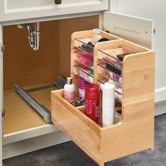 Vanity Base Pull Out Drawer - Einrichtungsideen Bathroom Storage, Kitchen Storage, Kitchen Organization, Bathroom Ideas, Organization Ideas, Bath Ideas, Best Kitchen Design, Kitchen Designs, Classic Kitchen