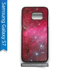 Red Outer Galaxy Nebula Samsung Galaxy S7 Case Cover