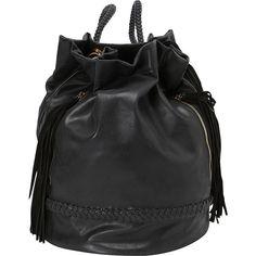 SW Global Jane Drawstring Shoulder Bag Backpack ($33) ❤ liked on Polyvore featuring bags, backpacks, black, handbags, manmade handbags, fringe bag, drawstring bag, drawstring knapsack, draw string backpack and drawstring shoulder bag