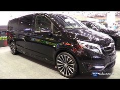 Mercedes Benz V-Class Black Crystal - Exterior Walkaround - 2016 Moscow Automobile Salon - YouTube