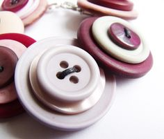 Giant Handmade Button Bracelet Jewellery  £10.50