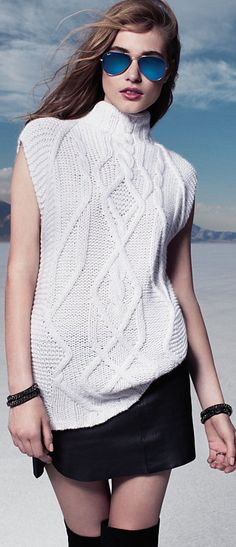 Fall Fashion Cashmere Cable Knit Sweater