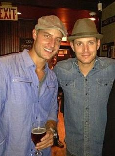 Justin Hartley and Jensen Ackles