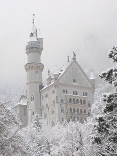 King Ludwigs castle in Bavaria...the same castle that Cinderellas castle is based on.  Gorgeous and magical place!