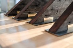 DY.o Events (aka. Duo) Awards designed by DY.o from historic old timber recycled from the Gordon Street Garage