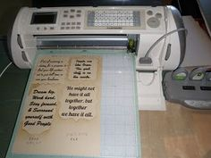 Best Web Gift Ideas: Homemade Gift Learn how to PRINT- text CUT-Shape with Cricut Expression