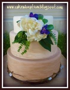 Wedding cake Earthy Wood grain