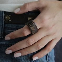 Leather Rings Brown