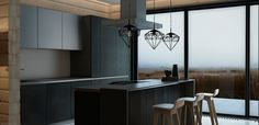 Commercial project.Images are made for the kitchen furniture store,that would be present to its client the kitchen .