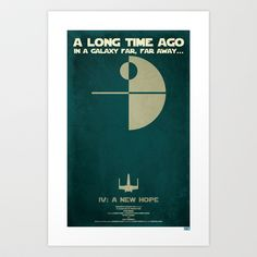 Star Wars - A New Hope Art Print by Jon E. Allen - $17.00