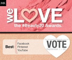 We're proud to announce that Mary Kay® has been nominated in the ‪#‎Beauty20‬ Awards in 3 categories.  Cast your vote at beauty20awards.com!