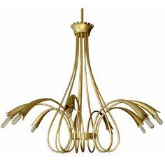 Gio Ponti; Brass Chandelier, 1960s.