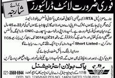 Urgent Required Light Drivers for Sharja | New Jobs Portal