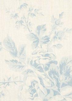 Cabane Rose, Ciel on White, Brocante Fabrics