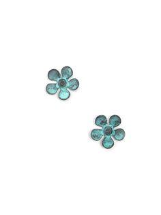 Patina Metal Flower Earring