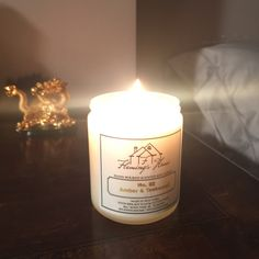 In love with our Amber & Teakwood Soy candle!!! #flemingshome