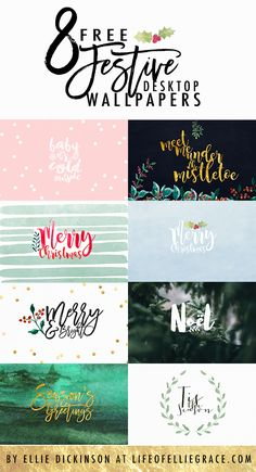 Free festive desktop and ipad wallpapers. https://www.lifeofelliegrace.com/blog/free-christmas-festive-wallpaper-desktop-ipad
