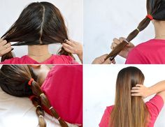 Straight hair with no heat. I need to try this.
