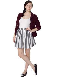 Stripe Full Woven Skirt | Shop American Apparel - StyleSays