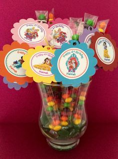 12 Disney Princess Palace Pets Filled Skittles Candy Favor Personalized