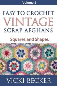 Afghan Crochet Pattern Easy To Crochet Vintage Scrap Afghans