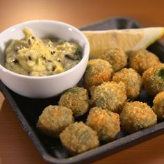 Find out how to make the Fried Stuffed Olives recipe from the child prodigies on Man vs. Child: Chef Showdown.
