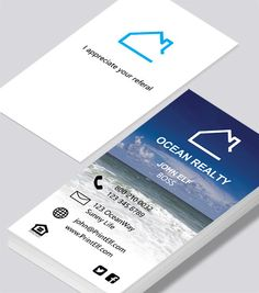 A modern lyft business card design this template can be modified modern contemporary business card design ocean realty business card realtor reheart Choice Image