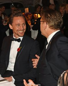 Tom Hiddleston with Sir Kenneth Branagh @ the 62nd London Evening Standard Theatre Awards at The Old Vic Theatre 13.11.2016 London From http://tw.weibo.com/torilla/4041603092393638