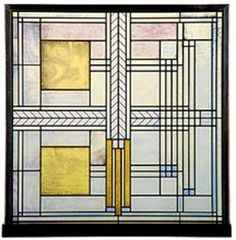 Frank Lloyd Wright Willits House Stained Glass. Hang from a square window.