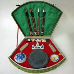 Chinese Calligraphy Set - Everything you need to learn Chinese brush calligraphy painting.  A truly unique gift!