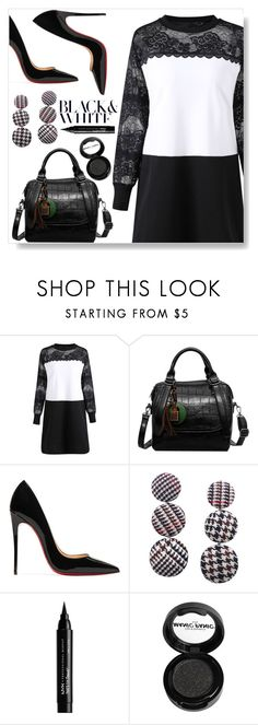 """""""Black and white"""" by simona-altobelli ❤ liked on Polyvore featuring Christian Louboutin, NYX and Manic Panic NYC"""