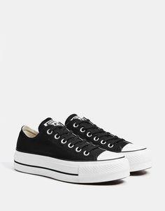 6c36a4d40b30 CONVERSE CHUCK TAYLOR ALL STAR platform sneakers - Bershka  fashion   product  converse  allstar  sneakers  trainers  black  canvas  zapatillas   lona  negras ...