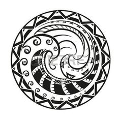 polynesian culture: Geometric circle element made in vector. Perfect cards for any other kind of design Illustration