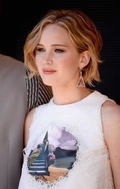 The Best Beauty Looks from #Cannes 2014 | We love JLaw's grown-out pixie
