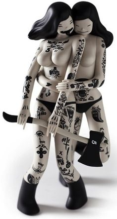 "Kidrobot ""Les Viandardes"" Designer Art Toy Vinyl Figure by McBess"