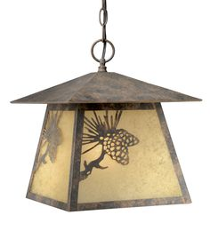 Rustic Chandeliers: Pinecone Cabin Outdoor Pendant Light|Black Forest Decor
